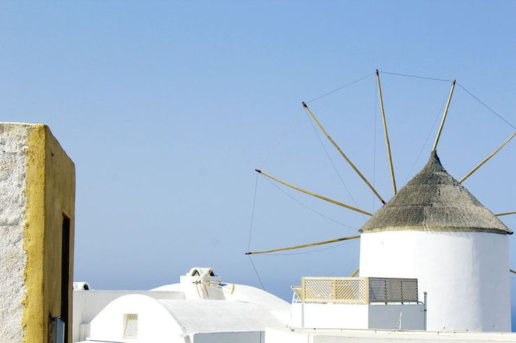 Oia: A place to fall in love...  #Oia, #Santorini, #Greece, #beautiful #house, #caldera #view, #cycladic #architecture, #holiday deatinations, #mustseeplaces #windmill