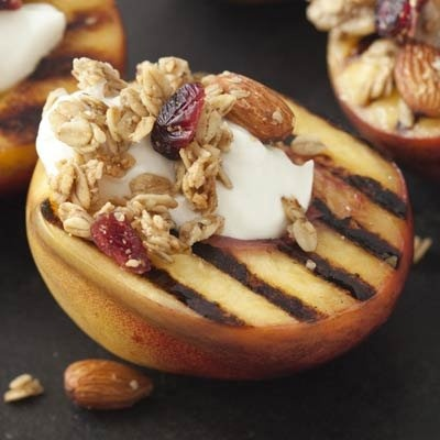 Grilled Stone Fruit recipe by Esther Choi - Halve and pit peaches ...