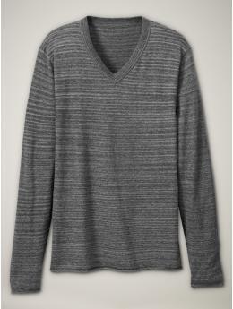 Subtle fine guage spacedyed vee sweater