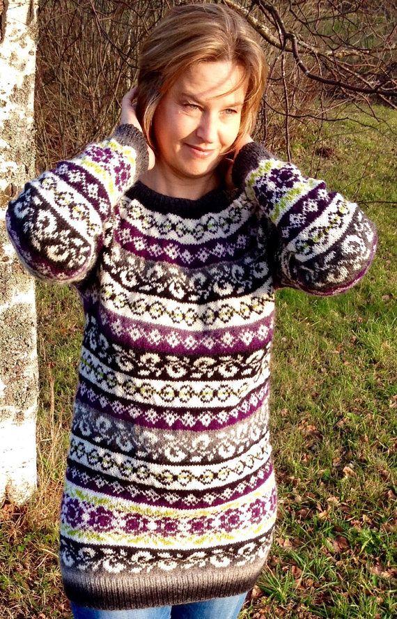 Fair Isle Sweater, Women's Sweater, Made to order