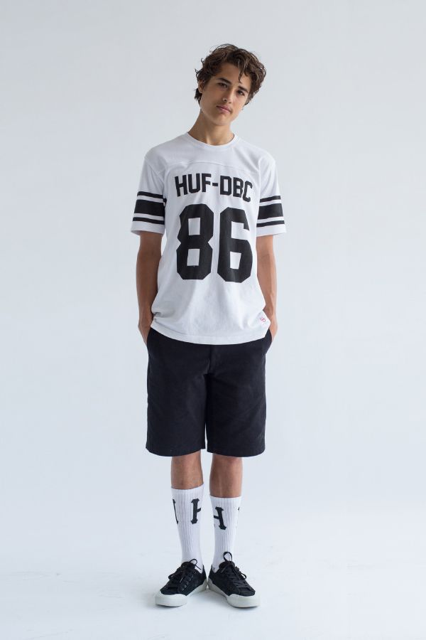 HUF Wrecking Crew Football Jersey. Now available via JackThreads.com for $39 USD. #INSTASTREETWEAR #Streetwear #HUF #JackThreads #Fashion