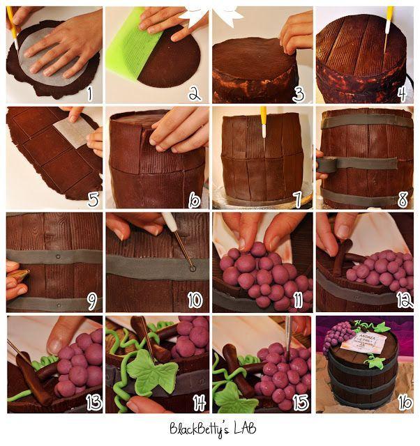 Wine Barrel Cake Tutorial cakepins.com