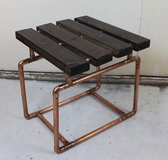 2x4 U0026 Copper Pipe Bench / End Table By Paul Segedin U0026 Urban Prairie Design,
