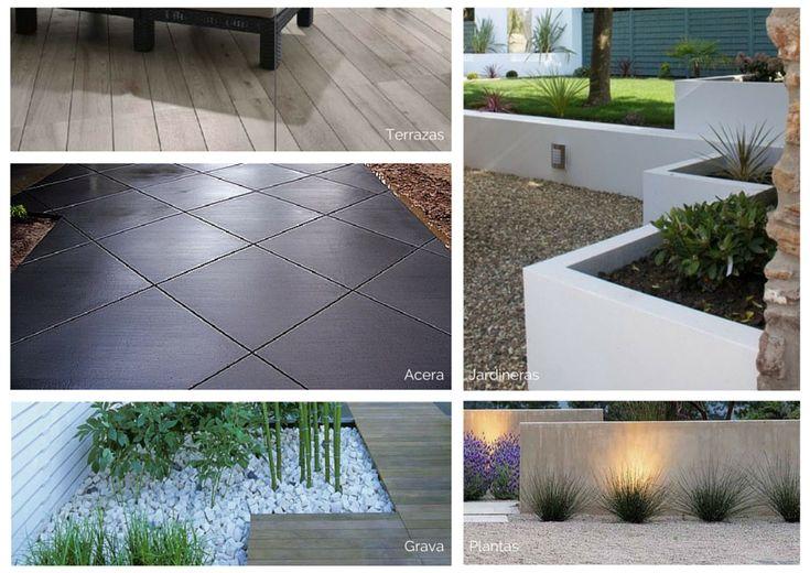 Diseño de jardín moderno: materiales