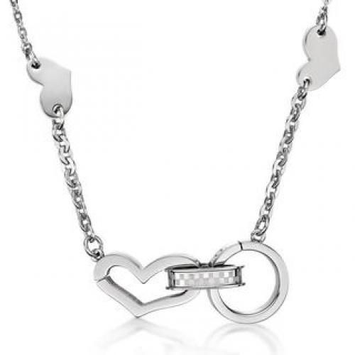 Kenny & co Heart Necklace Black - One Size