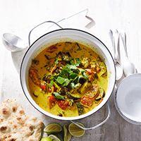 Aubergine & lemongrass curry