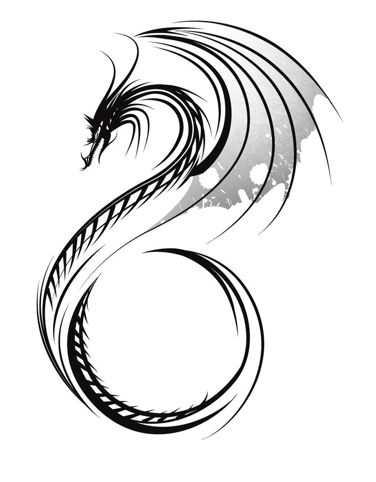 25 Best Ideas About Tribal Dragon Tattoos On Pinterest Tattoo Designs