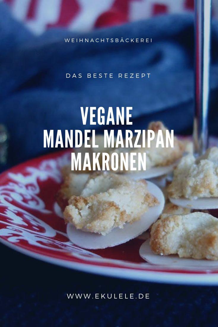 Rezept für vegane Marzipan Mandel Makronen