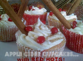 Apple Cider Cupcakes With Red HotsApples Cider, Cupcakeswith Red, Cider Cupcakes With, Cake Ideas, Apple Cider, Cupcakes With Red, Cupcakes Rosa-Choqu, Cider Cupcakeswith, Red Hot