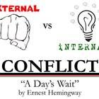 Internal and External Conflict - A Days Wait  This 9-slide PowerPoint takes Ernest Hemingways short story A Days Wait (a story in the Prentice...