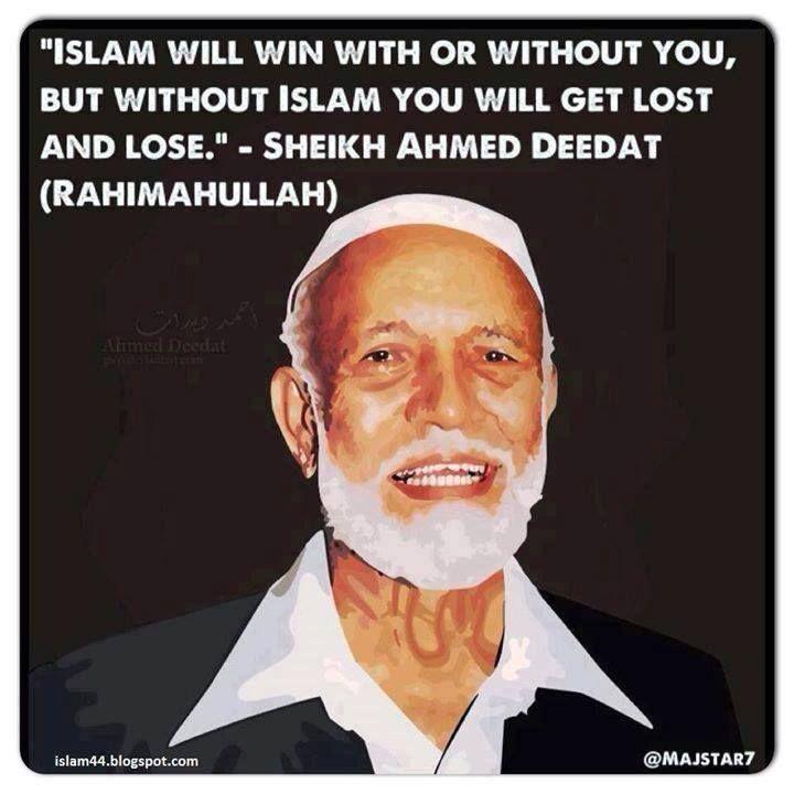May Allah grant Sheikh Ahmed Deedat Jennah El-Firdaus...