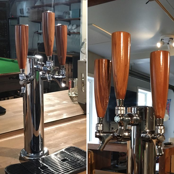 Beer tap handles. Made by Barry Hardy.