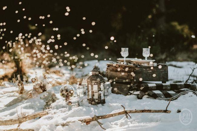 Une inspiration romance en montagne pour un mariage en hiver Image: 24