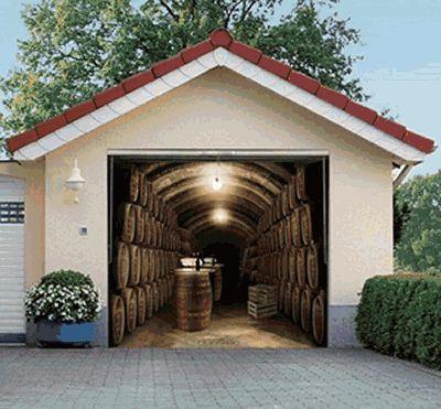 garage door murals - DesignSwan.com