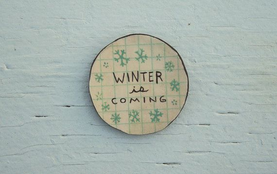 Winter is Coming by SUPER SOCK on Etsy