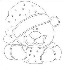 Resultado de imagen para moldes de oso navidad
