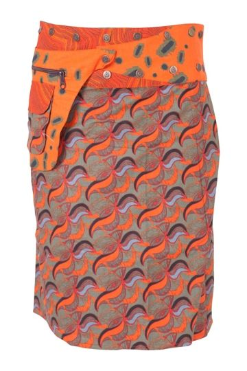 Boom Shankar 50s dresses Reversible Rosanna Long Skirt - Womens Knee Length Skirts - Birdsnest Online