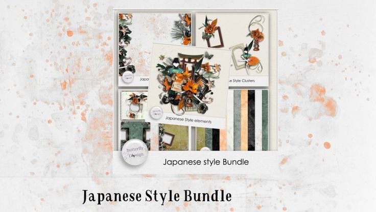 Japanese Style Bundle by butterflyDsign