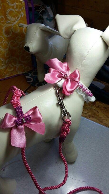 Collarino in ecopelle perle fiocco # collarino  #cane#dog ecopelle #perle