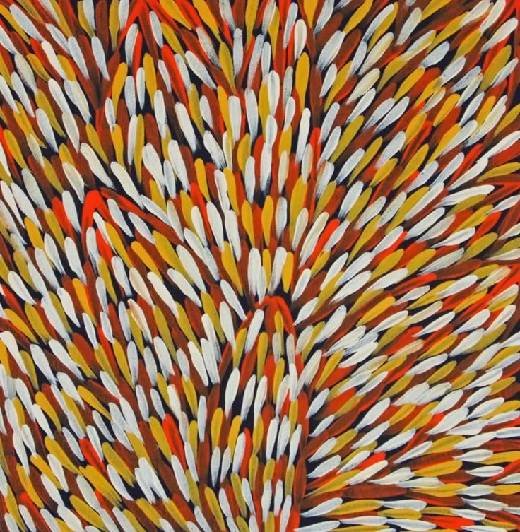 Bush Medicine Plant (GP-1007) by Gloria Petyarre http://merindahart.com.au/artists/gloria-petyarre