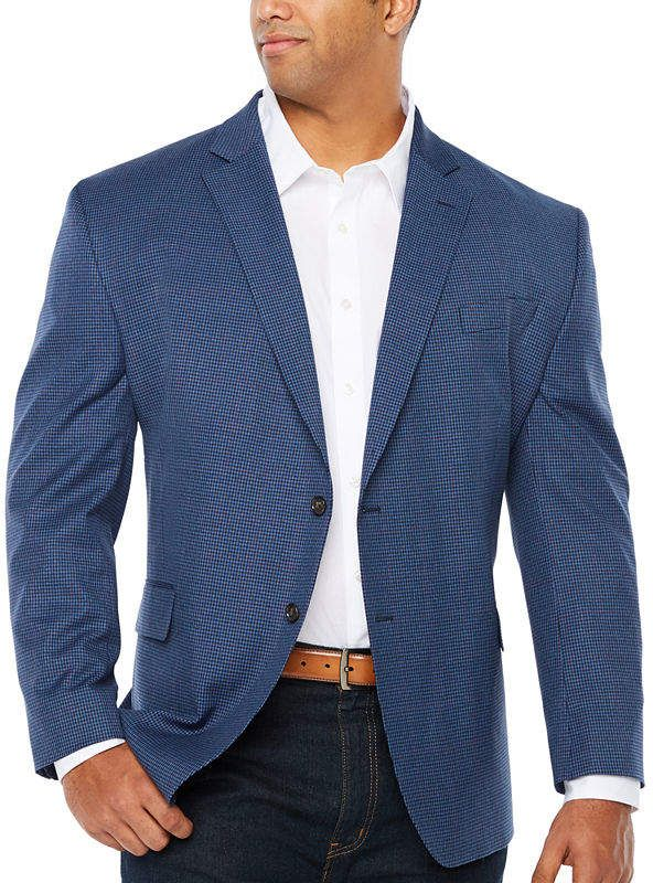 d6ae470c1 STAFFORD Stafford Year Round Stretch Classic Fit Gingham Sport Coat Big and  Tall