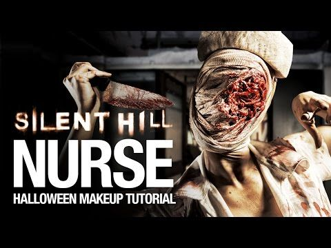 Silent Hill nurse Halloween makeup tutorial - YouTube