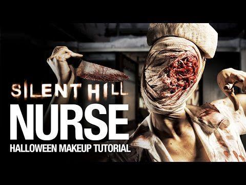 Silent Hill nurse Halloween makeup tutorial - YouTube