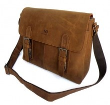 """Aukland"" Men's Full Grain Distressed Leather Messenger Bag  http://www.modernmanbags.com"