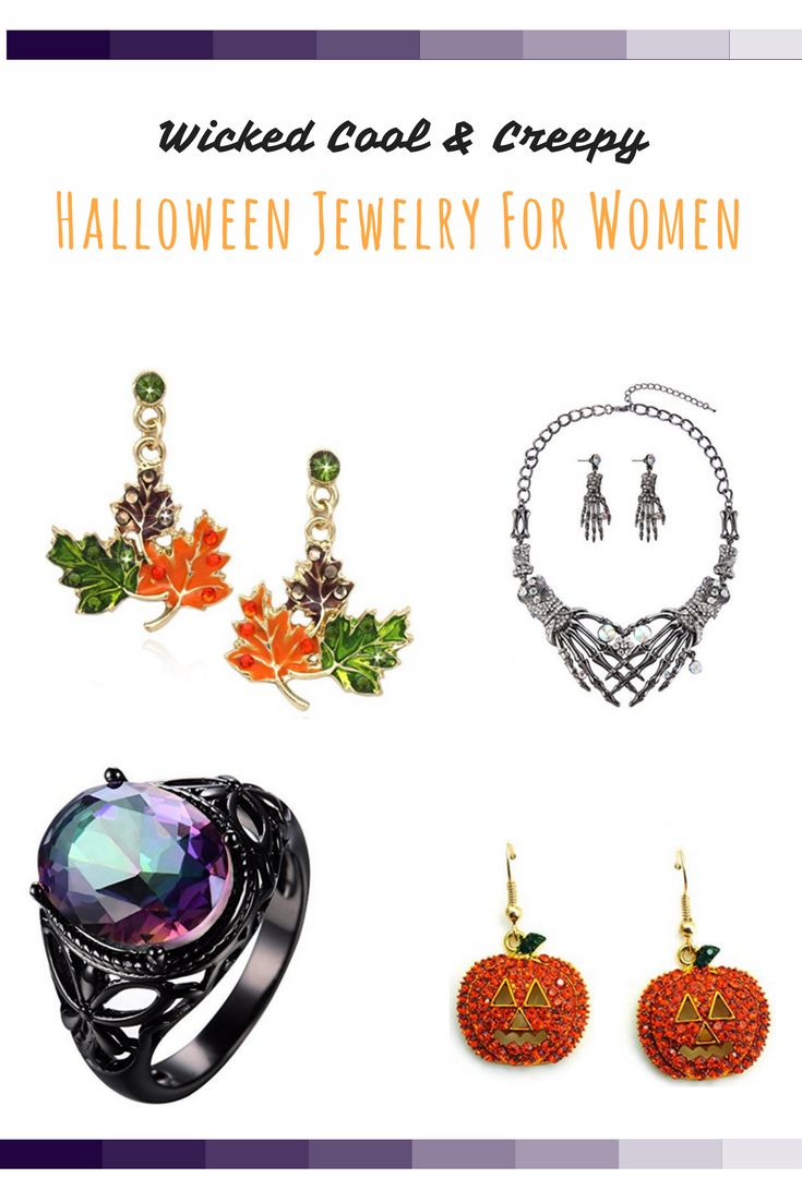 These are some of my favorite pieces of Halloween jewelry for 2017.  In fact, I really love the chokers and some of the Halloween rings I wear year around.  These make great Halloween costume accessories and can really elevate your Halloween costume.  You can get all kinds of spooky, creepy and wicked cool Halloween costume ideas for Halloween 2017.