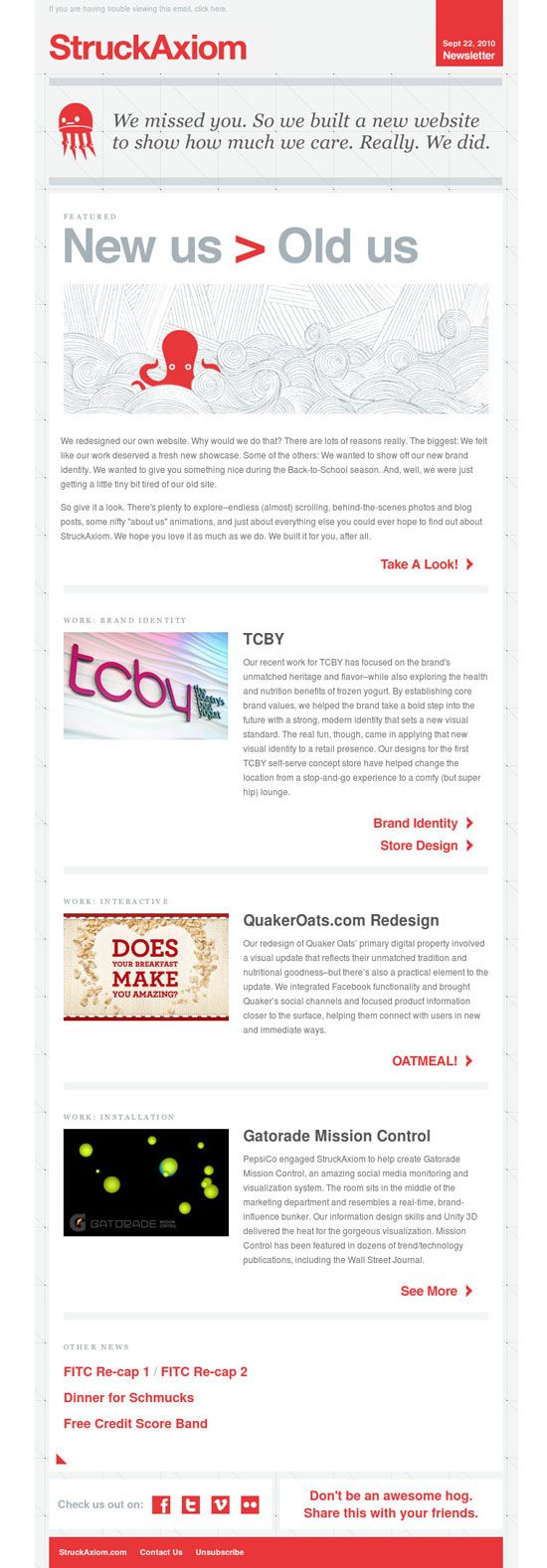 Creative Studio Email Newsletters
