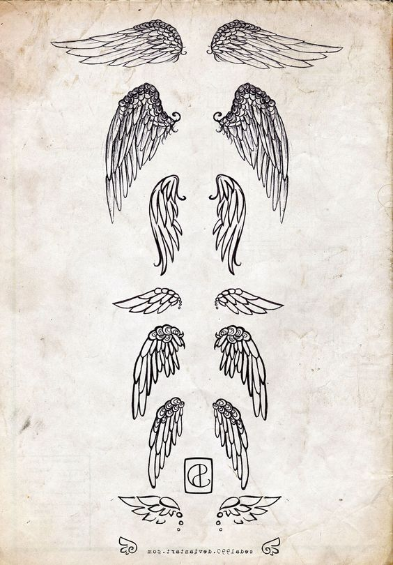Pictures Of Small Angel Wing Tattoos: