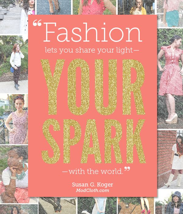 fashion, share your #spark!