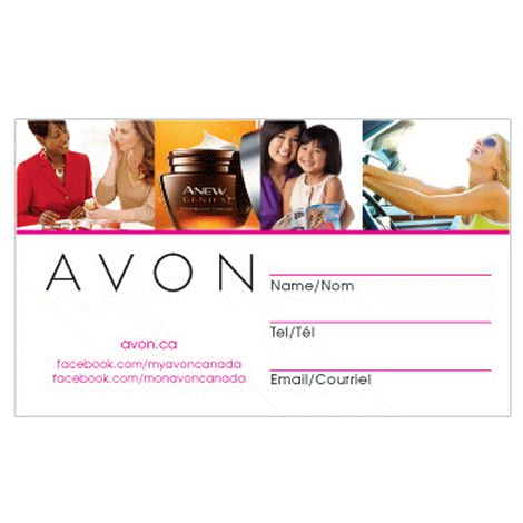 20 best images about Order Avon Business Cards on Pinterest