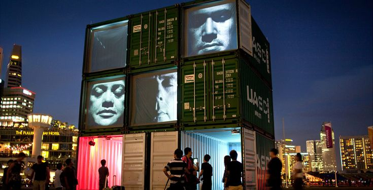 shipping container installations