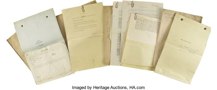 Movie/TV Memorabilia:Documents, Original Film Treatments and Shooting Scripts by Nina Wilcox Putnamand Others from Triangle Motion Picture Company, 1915-18 ...(Total: 1 Item)