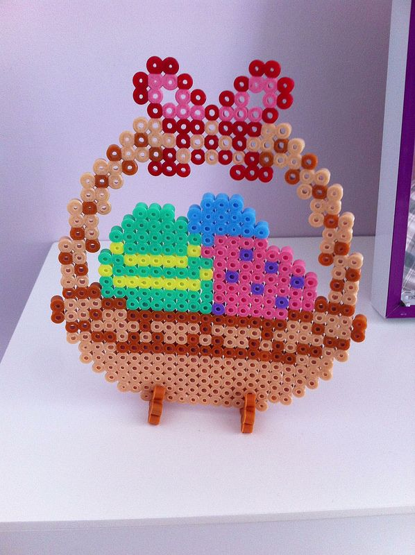 Easter basket hama perler beads by shakotte