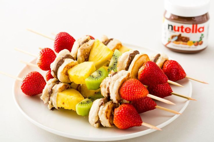 Fruit Nutella Pancake Kabobs – Rezepte zum Ausprobieren – #Fruit #Kabobs #Nutella …   – Make Good Things