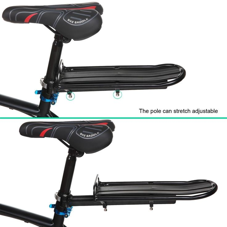 Asatr Mountain Bike Bicycle Rear Luggage Rack Carrier Pannier Seat Racks Black. Material:The rack is constructed with Aluminum Alloy,very study,can support around 10 kg stuff. Rack Size: L33.0 x W11.5cm/ 12.87 x 4.49 inch. Easy installation:Rear rack mounts easily to seat posts. Easy storage:Lightweight compact design for easy transport. Package Content:1 x Bike Carrier Rear Rack.