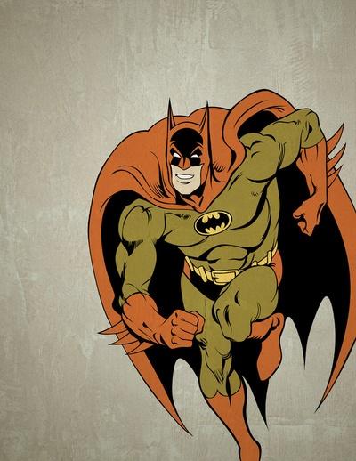 For the little guy's room.: The Dark Knights, Art Vaulted, The Batman, Batman Geek, Comic Books, Art Prints, Bruce Wayne, Colorblind Heroes, Colorblind Batman