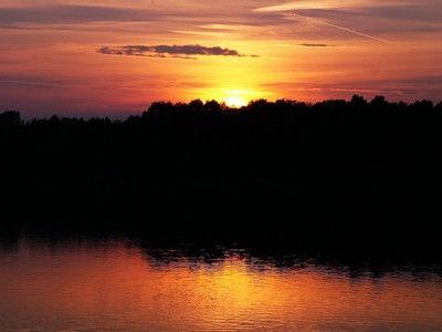 Burgundy, purple and yellow sunset