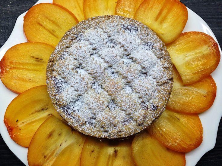 crostata # di cachi # al profumo di # vaniglia