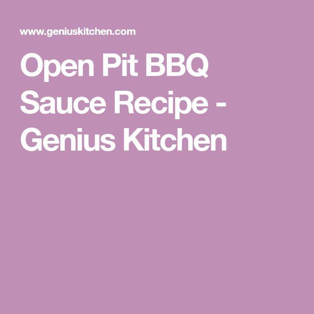 Open Pit BBQ Sauce Recipe - Genius Kitchen