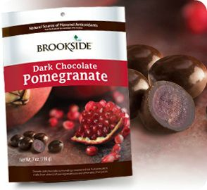 brookside dark chocolate pomegranate - pomegranate coated in chocolate. delicious!