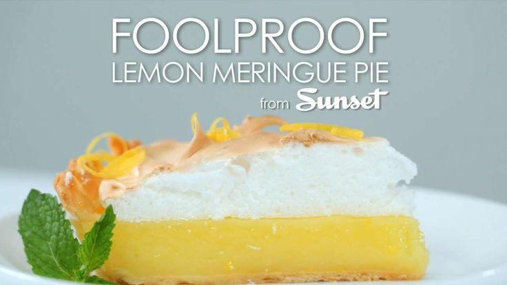 foolproof lemon meringue pie from sunset magazine