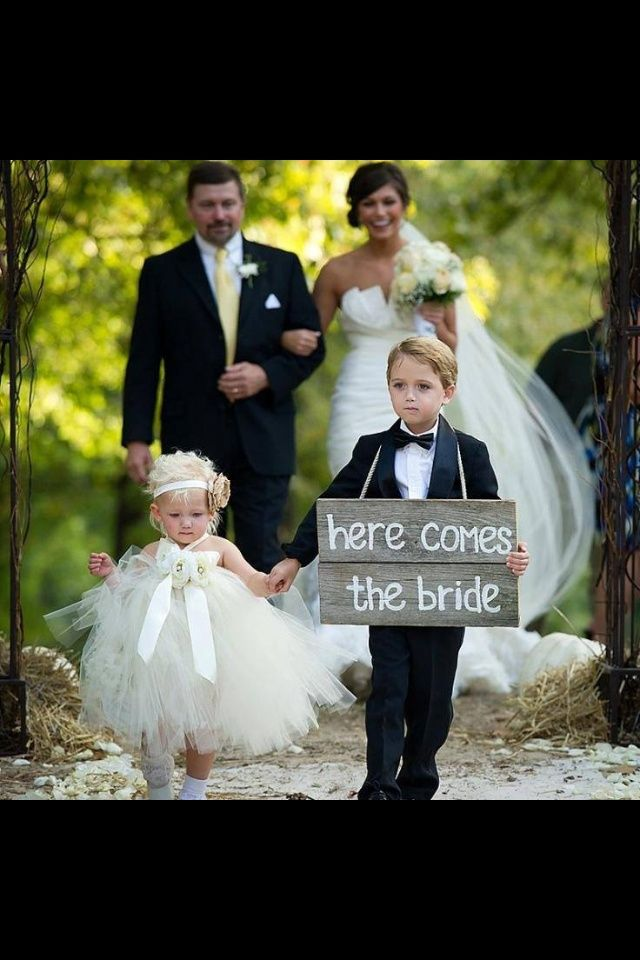 My ring bearers are going to be adorable, I might have to incorporate this somehow! :)