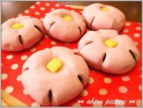 「お花あんパン♪」。。。ahiru | お菓子・パンのレシピや作り方【corecle*コレクル】