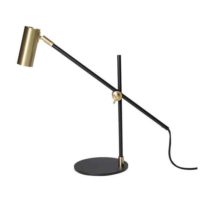 RUBN Lektor Desk Lamp Black Stand / Brass Shade