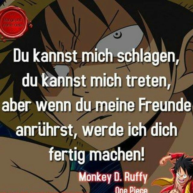 Ruffy Ruffy Manga Zitate One Piece Zitate Naruto Zitate