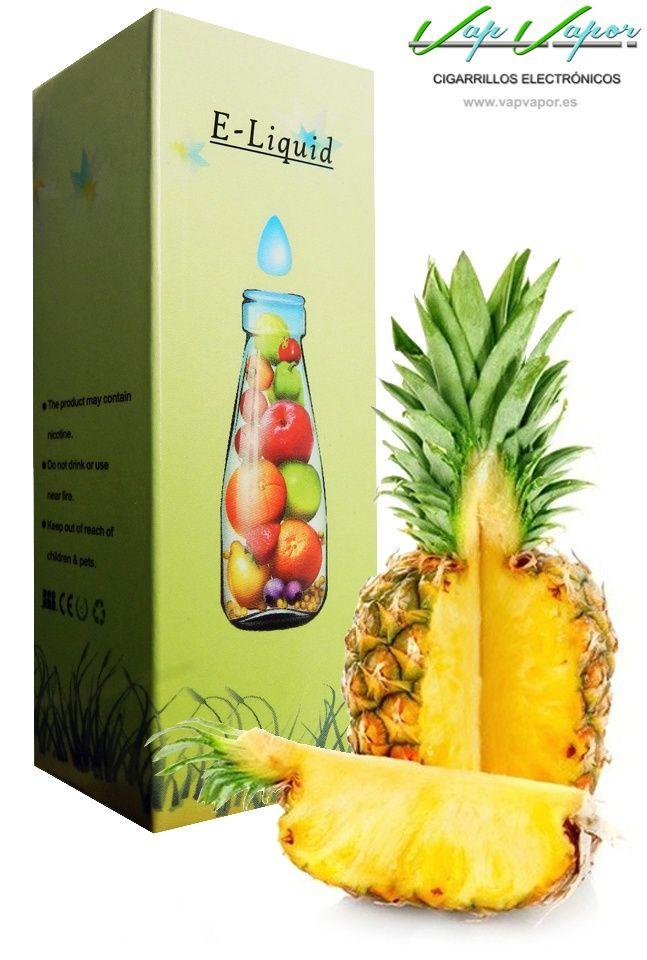 e-liquid Piña  http://www.vapvapor.es/liquido-frutas-cigarrillo-electronico  Líquidos para cigarrillos electrónicos de la marca e-liquid. Nuestra marca e-liquid se caracteriza por su gran variedad de aromas y sabores.     - e-liquid sabor Piña (afrutado)     - Categoría: frutas