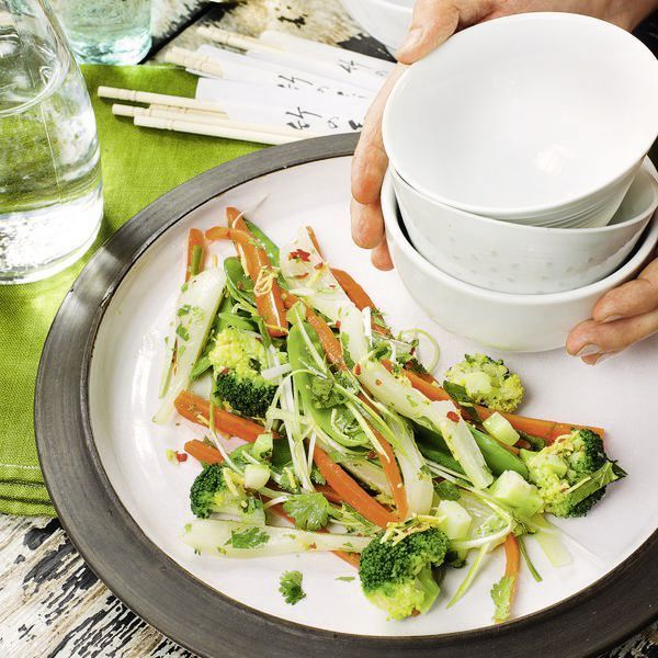 Gemüsesalat mit Chilidressing